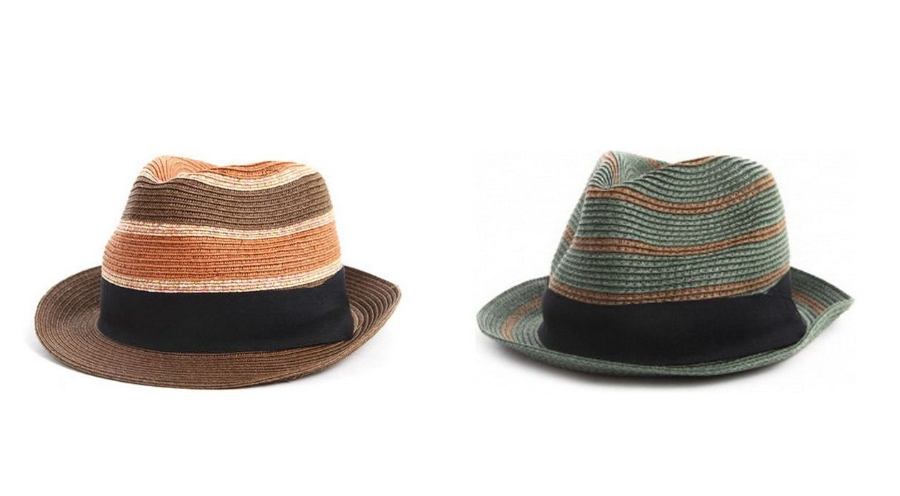 scotch and soda straw hat men