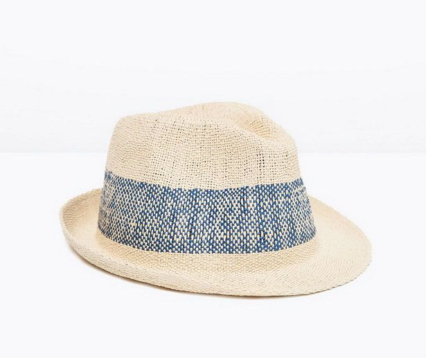 zara men straw hat
