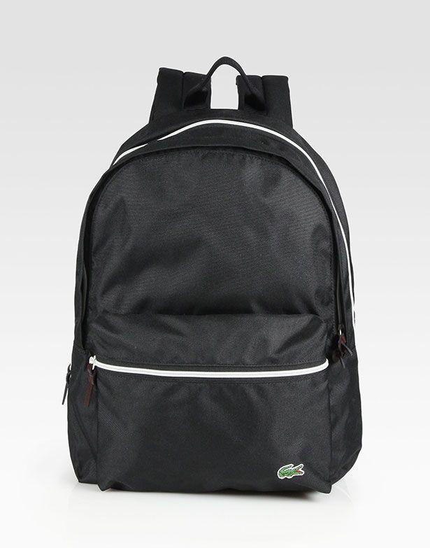 lacoste-black-backcroc-medium-backpack