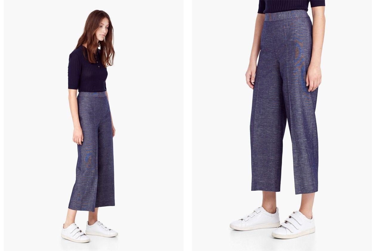Mango flecked capri trousers