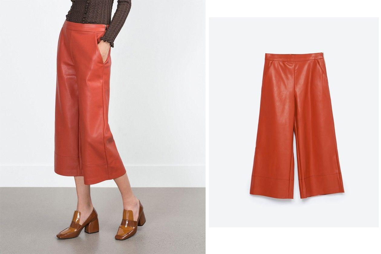 Zara faux leather trousers