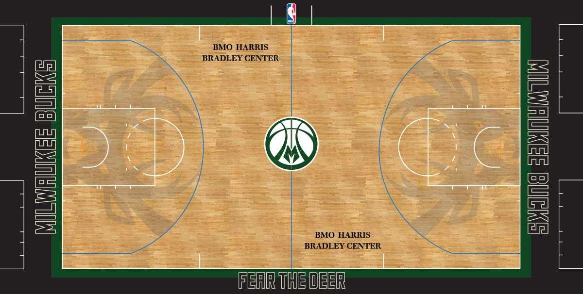 Bucks alternate court: ilustracije NBA, Milwaukee Bucks