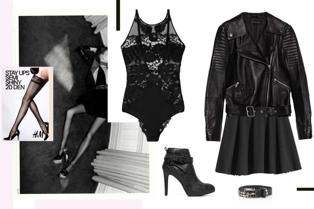 jakna: ZARA, suknja: H&M, bodi: OYSHO, čizme: REPLAY, kaiš: DIESEL, čarape: H&M