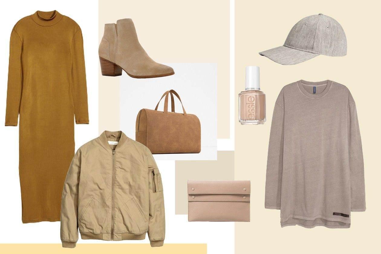 haljina:H&M, jakna: H&M men, čizme: ALDO, torba: ZARA men, novčanik: MANGO, lak za nokte: ESSIE, majica: H&M, kačket: H&M