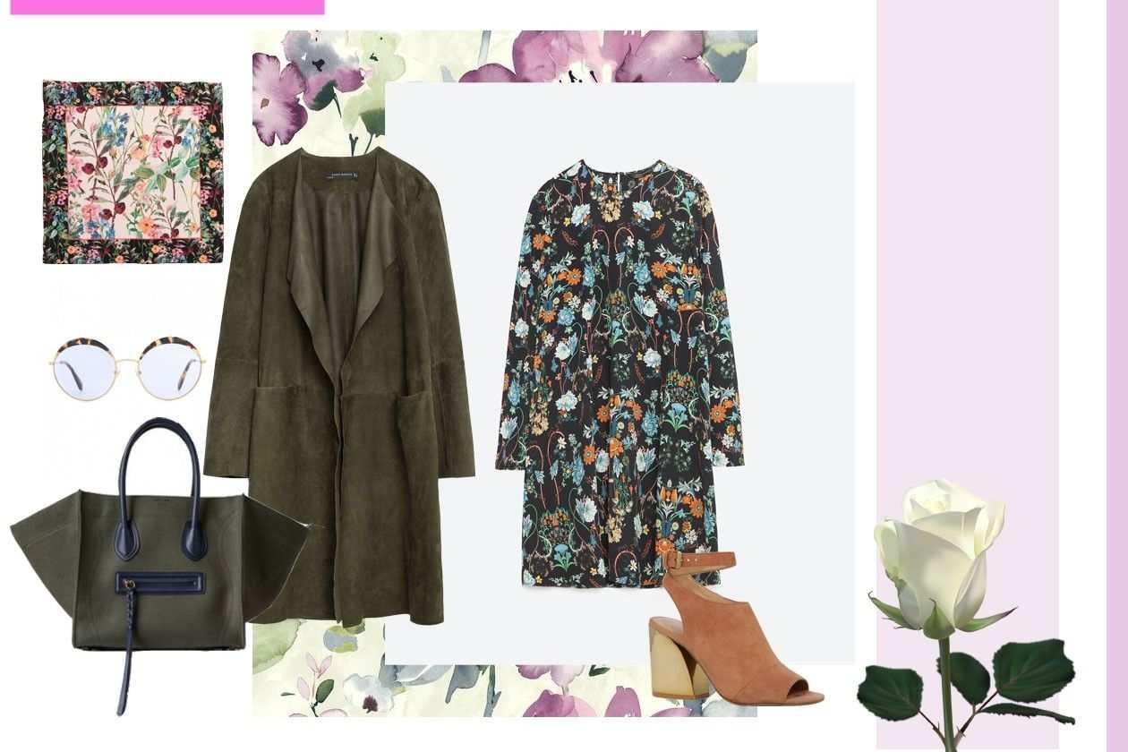 marama: H&M, naočare: MIU MIU, tašna: CELINE, mantil: ZARA, haljina: ZARA, sandale: ALDO