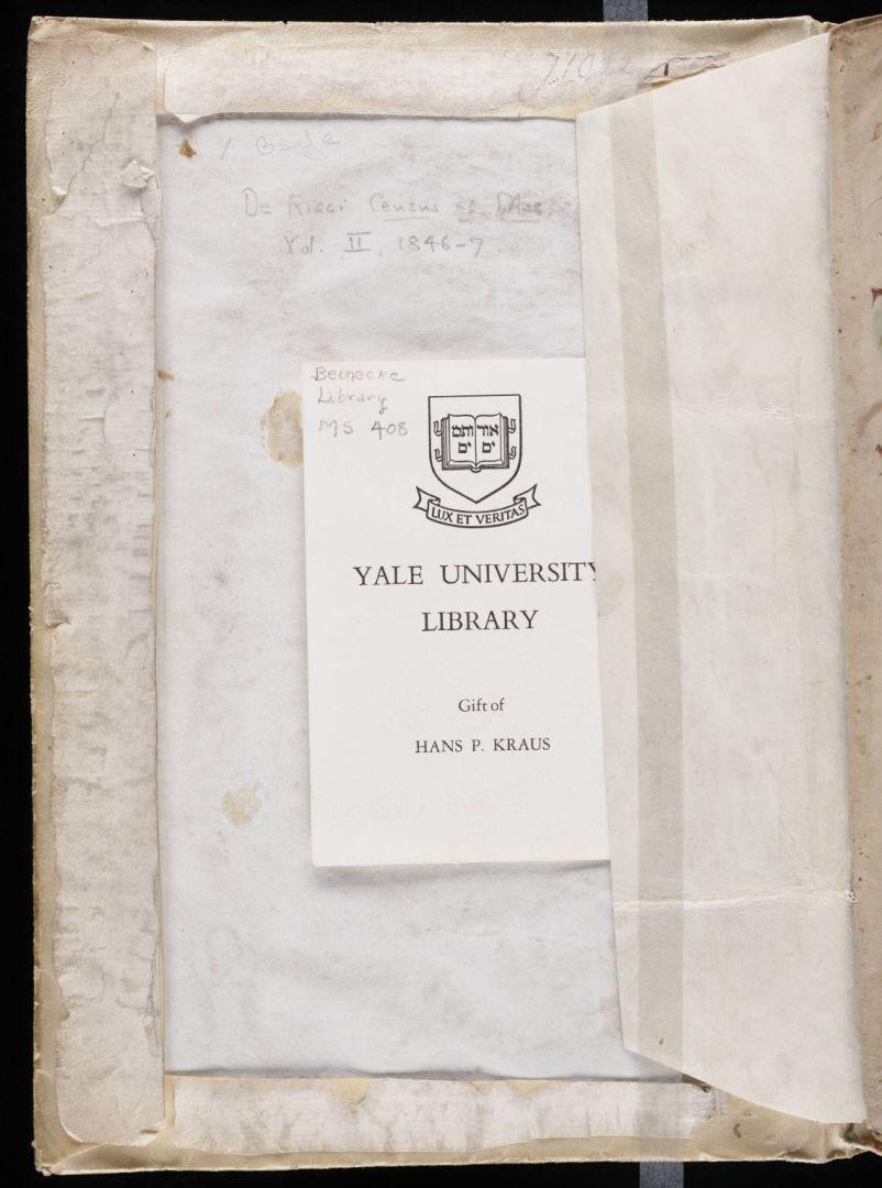 Kartica za potpisom Krausa i potvrdom o poklonu