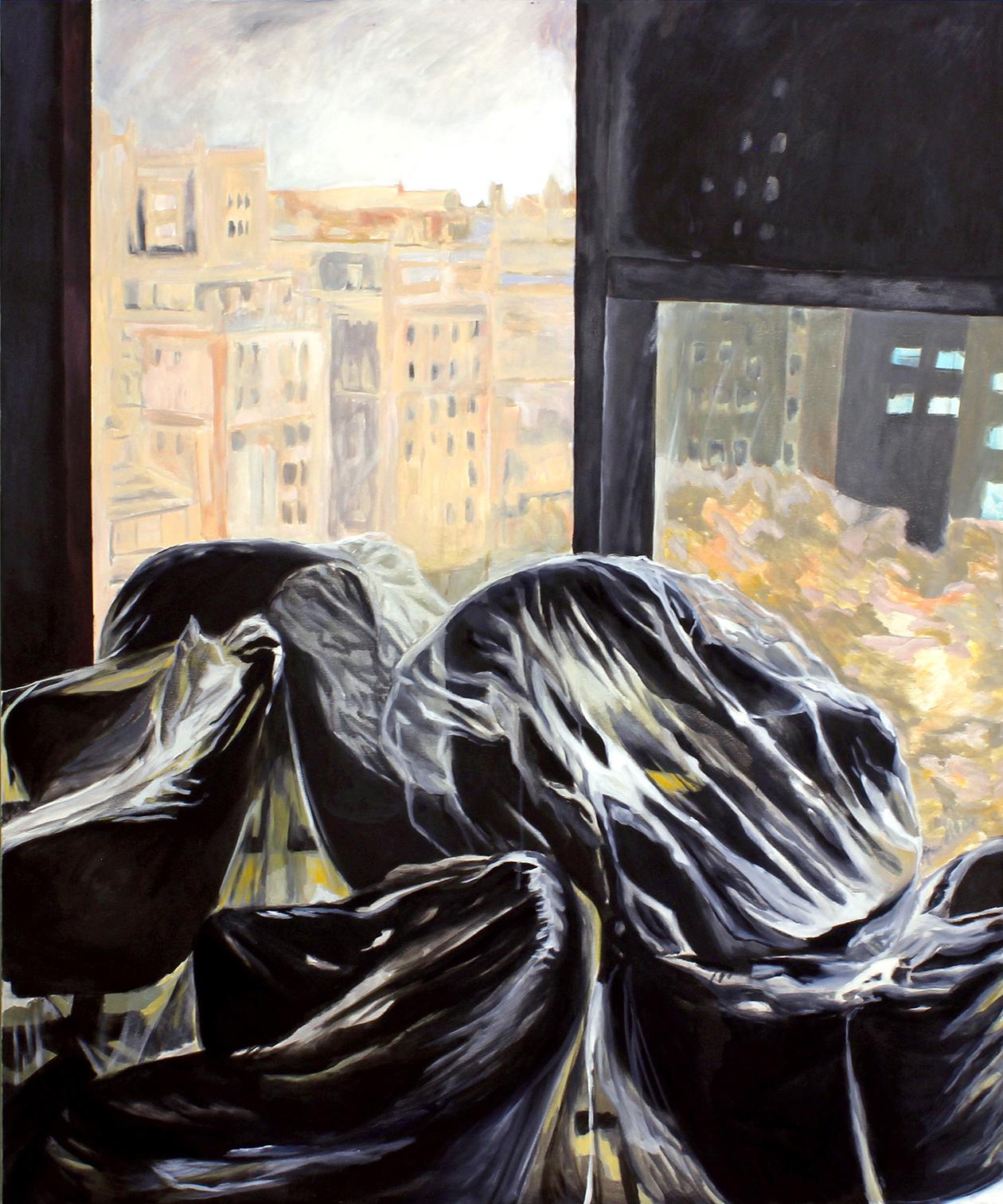 A view from an office, 150 x 180 cm, ulje na platnu, 2020