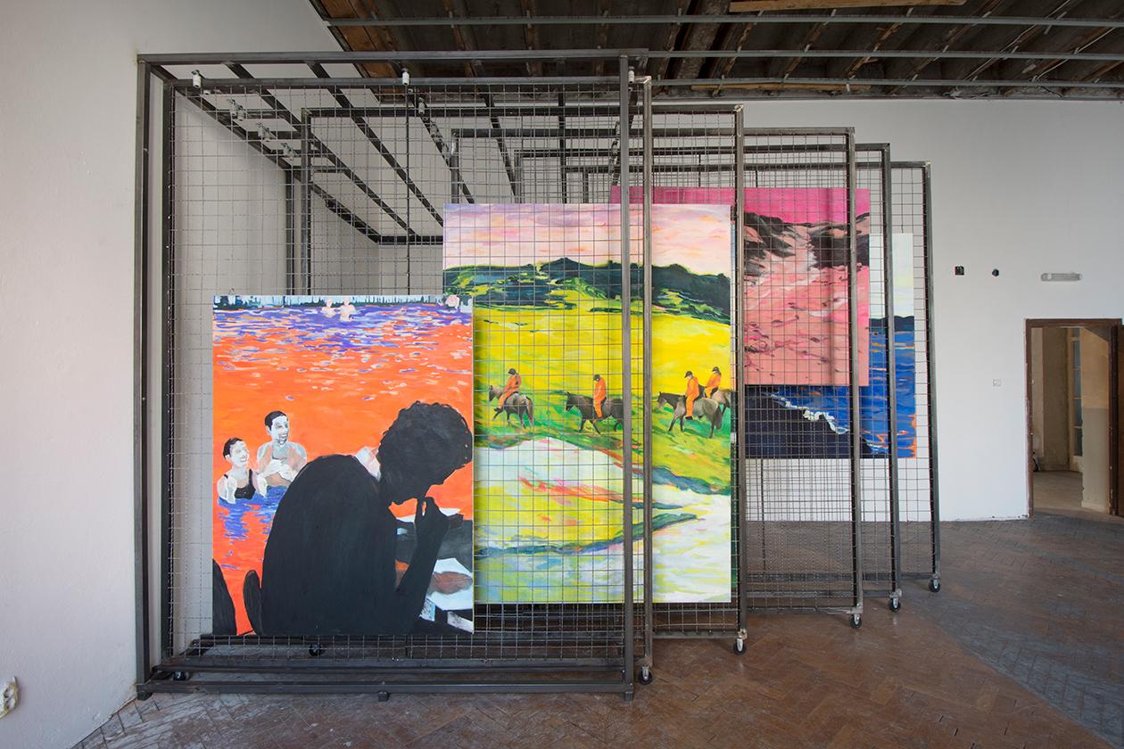 Tropique Nord, ulje na platnu, izgled instalacije, 57. Oktobarski salon, 2018